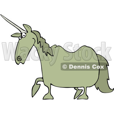 Royalty-Free Vector Clip Art Illustration of a Tan Unicorn © Dennis Cox #1051894