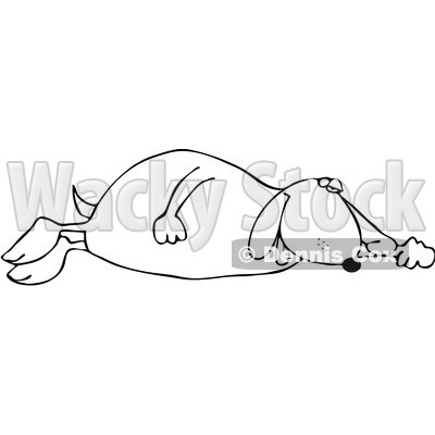 Royalty-Free Vetor Clip Art Illustration of an Outline Of A Sleeping Dog © Dennis Cox #1055091