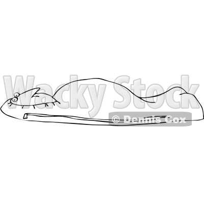Royalty-Free Vetor Clip Art Illustration of a Coloring Page Outline Of A Man In A Mummy Bag © djart #1055095