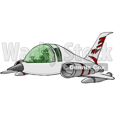 Royalty-Free Clip Art Illustration of a Man Flying A Jet © djart #1056424