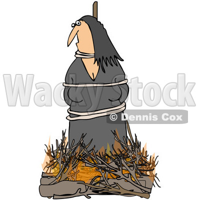 Clipart Witch Burning At The Stake - Royalty Free Illustration © djart #1065013