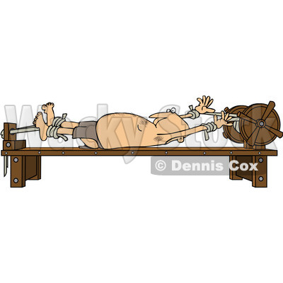 Clipart man stretched out on a rack royalty free vector illustration dennis cox 1081752 - Clipart tortue ...