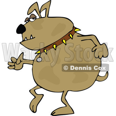 Clipart Bulldog Walking Upright - Royalty Free Vector Illustration © djart #1108694