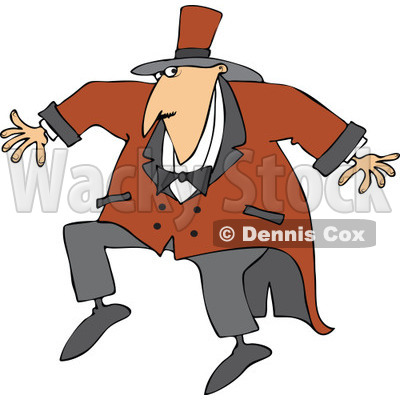 Cartoon of a Sneaky Circus Ring Master Man - Royalty Free Vector Clipart © djart #1182614