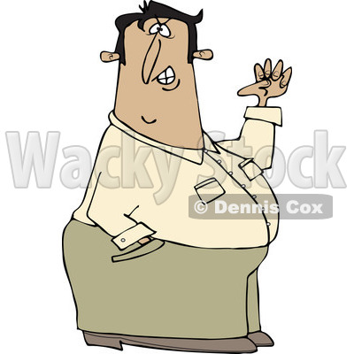 Clipart of a Half Defiant Man Holding up a Fist - Royalty Free Vector Illustration © djart #1221471