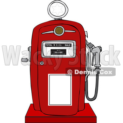 Clipart of a Retro Red Gas Pump - Royalty Free Vector Illustration © djart #1230502