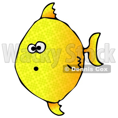 Shocked Yellow Angelfish Swimming Underwater Clipart Graphic Illustration © djart #12945