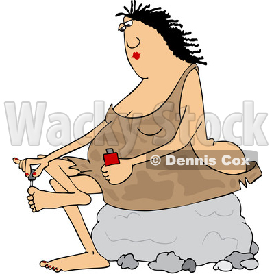 Cavewoman Clipart by Dennis Cox | Page #1 of Royalty-Free Stock ...