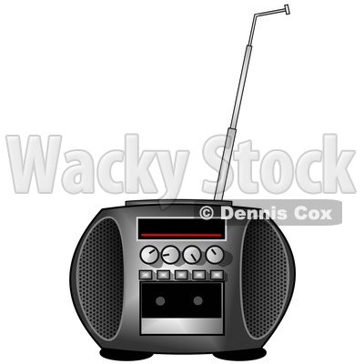 Clipart of a Boombox Radio - Royalty Free Illustration © djart #1529410