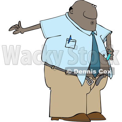 Clipart of a Cartoon Black Business Man Giving Him a Diabetes Insulin Shot - Royalty Free Vector Illustration © djart #1606300