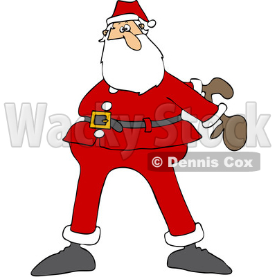 Cartoon Christmas Santa Dancing the Floss © djart #1620301
