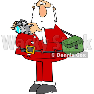 Cartoon Santa Taking Christmas Pictures © djart #1621814