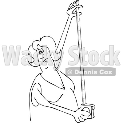 Woman Using a Tape Measure © djart #1668265