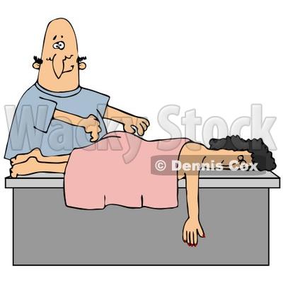 Back Massage Clip Art