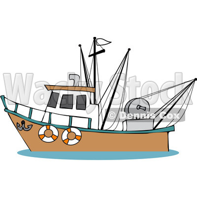 Fishing Boat Cartoon Cartoon Fishing Boat clipart