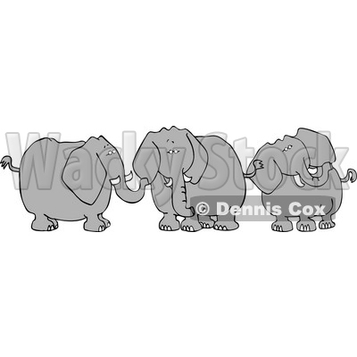 Three Elephants with Tusks Clipart © djart #4130