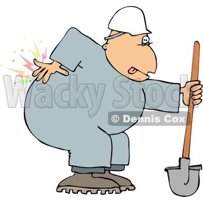 Male Worker with Back pain Clipart © djart #4145