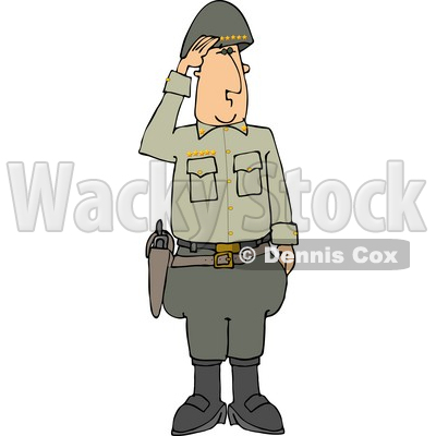 Military 5 Star General Saluting Clipart © Dennis Cox #4154