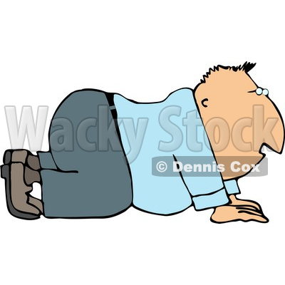 Business Man On His Hands and Knees Clipart © djart #4164