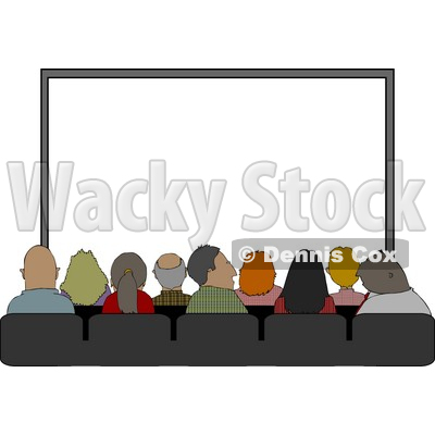 Audience Sitting In Their Seats at the Movie Theatre Clipart © djart #4229