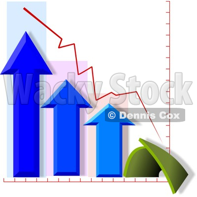Bad Fourth (4th) Quarter Chart/Graph Clipart © djart #4232