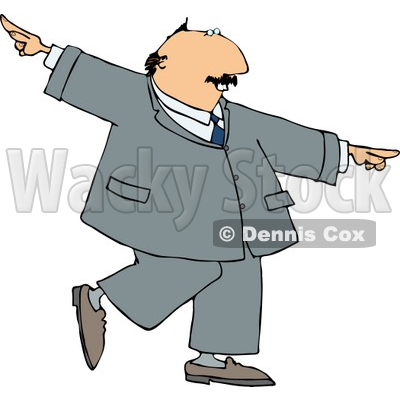 Successful, Happy Businessman Dancing Clipart © djart #4245
