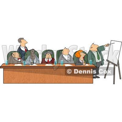 Businessmen and Businesswomen During a Business Meeting Clipart © Dennis Cox #4246