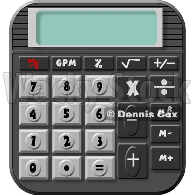 Standard Electronic Calculator Clipart © djart #4280