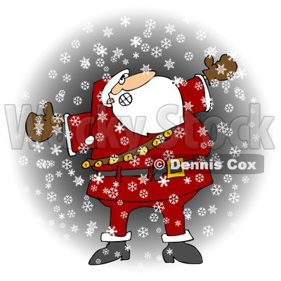 Royalty-Free (RF) Clipart Illustration of Santa Holding His Arms Out In The Snow © djart #434250