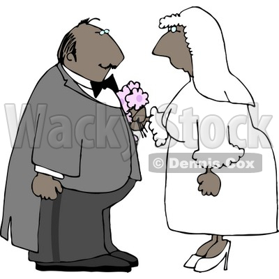 Ethnic Male and Female Couple Getting Married Clipart © djart #4344