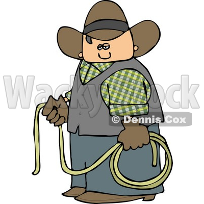 Cowboy Holding a Lasso Rope Clipart © djart #4372
