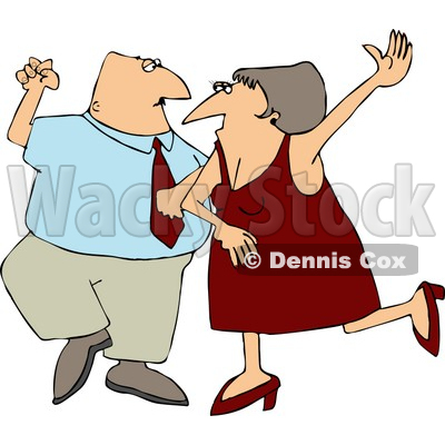Man and Woman, Husband and Wife Dancing Together On a Dance Floor Clipart © djart #4416
