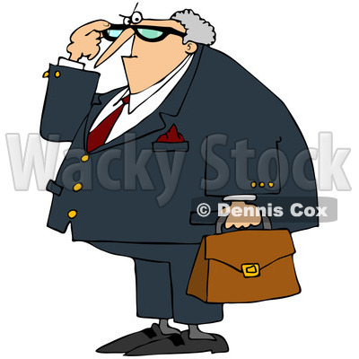 Royalty-Free (RF) Clip Art Illustration of an Angry Male Attorney © djart #442597