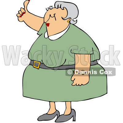 Royalty-Free (RF) Clip Art Illustration of an Old Woman Holding A Thumb Up © djart #442603
