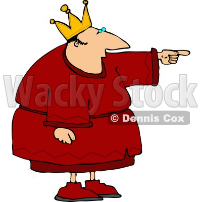 King Pointing Finger at Something Clipart © djart #4427