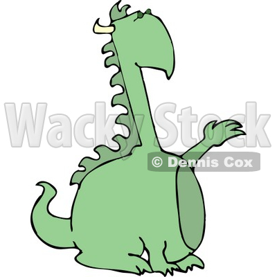 Reptilian Dragon with Horns Clipart © djart #4597
