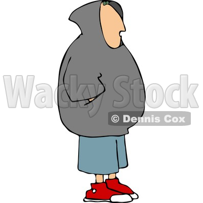 Teenage Boy Wearing a Hoodie Clipart © djart #4658