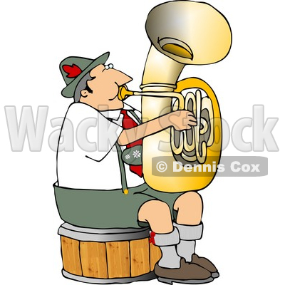 German Tuba Player Practicing By Himself Clipart © djart #4747