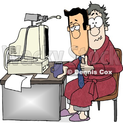 Businessman Working at His Home Office Today Clipart © djart #4777