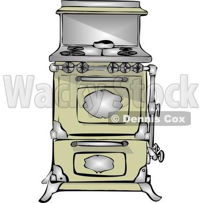 Antique Retro Kitchen Stove U0026 Oven Clipart By Djart
