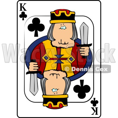 K/King of Clubs Playing Card Clipart © djart #4841