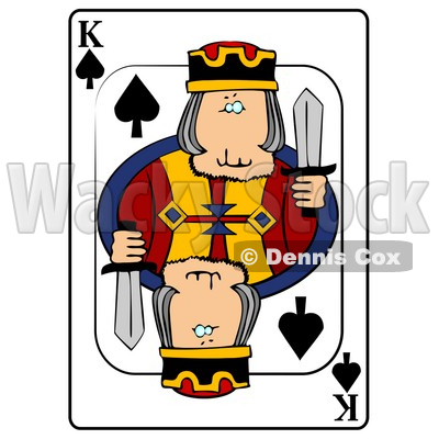 K/King of Spades Playing Card Clipart © djart #4848