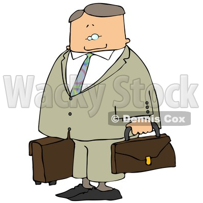 Up Businessman Ready to Travel to New York Clipart © Dennis Cox #4930