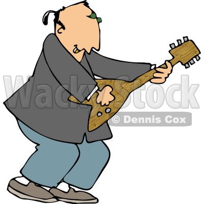 Old Rocker Playing a Guitar Clipart © djart #4952