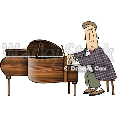 Professional Pianist Playing Grand Piano Clipart © djart #4975
