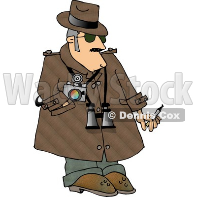 Humorous Private Eye Detective Clipart Image © djart #5018