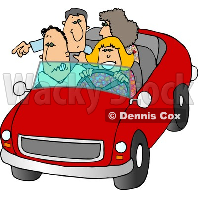 Family and Friends Going On a Road Trip Clipart © djart #5052