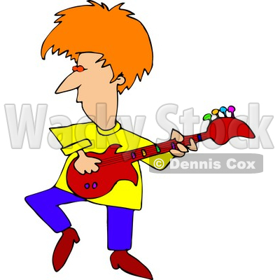 Colorful Guitarist Clipart by Dennis Cox