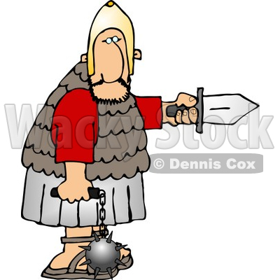 Roman Army Soldier Armed with a Knife and Flail Clipart © djart #5069