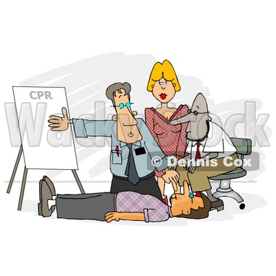 Doctor Teaching CPR to Medical Employees Clipart © djart #5111
